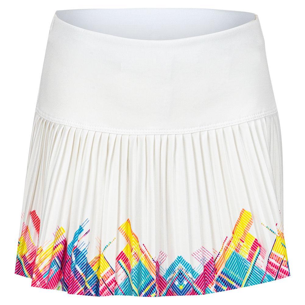 Girls ` Mini Plaid Pleated Tennis Skort White
