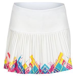 Girls` Mini Plaid Pleated Tennis Skort White
