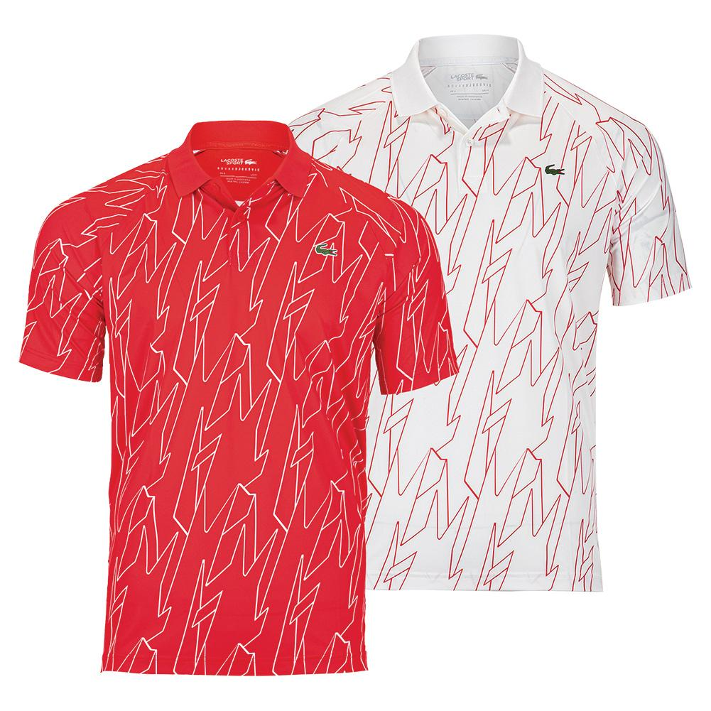 Men's Novak Djokovic Ultra Dry All Over Print Small Croc Tennis Polo