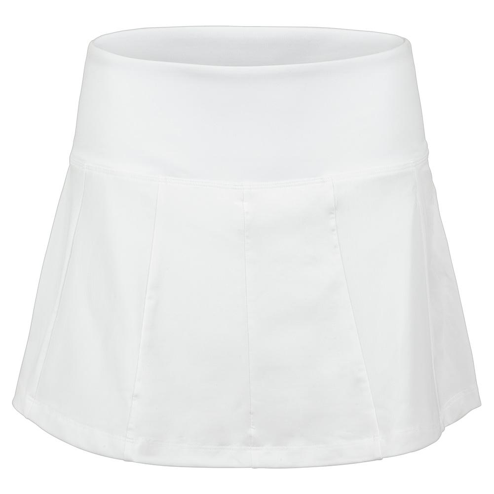 Women's White Line Call 14.5 Inch Tennis Skort