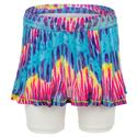 Girls` Mesh Pleated Tennis Skort 08955_TIE_DYE