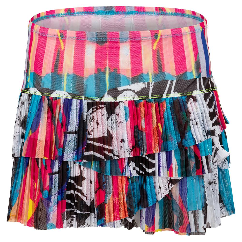 Women's Urban Mesh Pleated Scallop Tennis Skirt