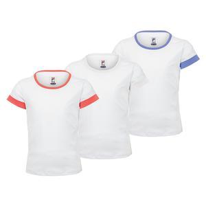 Girls` Short Sleeve Tennis Crew