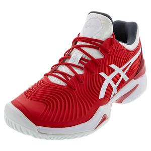Men`s Court FF Novak Paris Tennis Shoes Classic Red and White