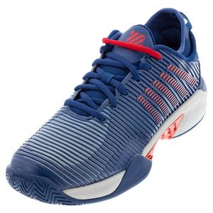Men`s Hypercourt Supreme Tennis Shoes Dark Blue and Glacier Gray