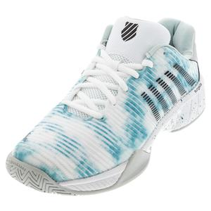Men`s Hypercourt Express 2 Limited Edition Tennis Shoes White and Bristol Blue