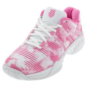 Women`s Hypercourt Express 2 Limited Edition Tennis Shoes White and Pink Carn