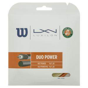 Duo Power 16L Roland Garros Tennis String Red Clay