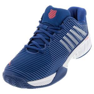 Men`s Hypercourt Express 2 Tennis Shoes Dark Blue and White