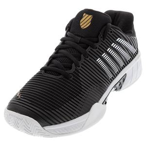 Men`s Hypercourt Express 2 Tennis Shoes Black and Gold