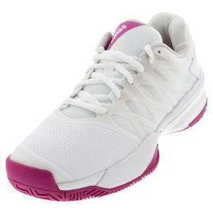Women`s Ultrashot 2 Tennis Shoes White and Cactus Flower