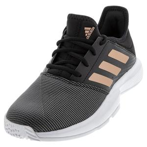 Women`s GameCourt Tennis Shoes Black and Copper Metallic