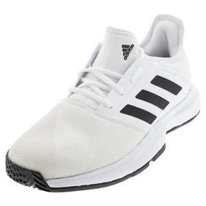 Men`s GameCourt Tennis Shoes White and Black