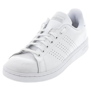 Women`s Advantage Tennis Shoes White and Matte Silver