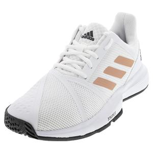 Women`s CourtJam Bounce Tennis Shoes White and Copper Metallic