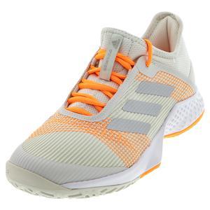 Women`s Adizero Club 2 Tennis Shoes Orbit Gray and Silver Metallic