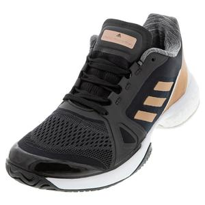 Women`s Stella Court Tennis Shoes Core Black and Copper Metallic