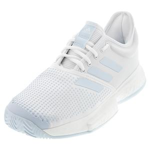 Women`s SoleCourt Boost Parley Tennis Shoes White and Sky Tint