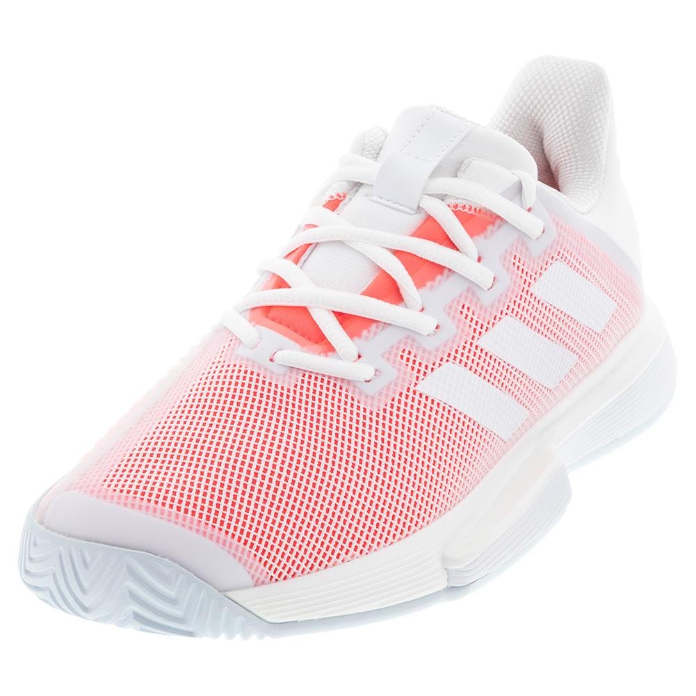 adidas Women`s SoleMatch Bounce Tennis Shoes White and ...