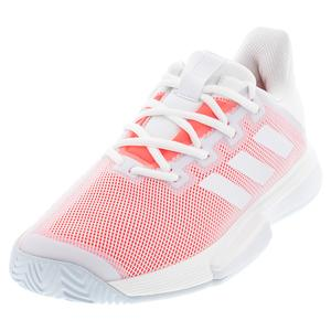 Women`s SoleMatch Bounce Tennis Shoes White and Signal Pink