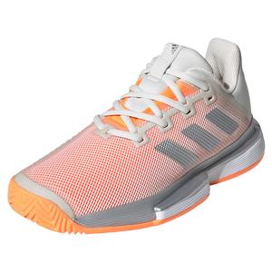 Women`s SoleMatch Bounce Tennis Shoes Orbit Gray and Signal Orange