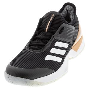 Women`s Adizero Ubersonic 3 Tennis Shoes Black and White