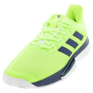 Men`s SoleMatch Bounce Tennis Shoes Tech Indigo and Signal Green