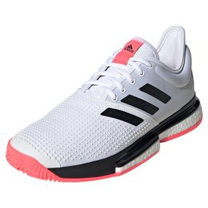Men`s SoleCourt Boost Tennis Shoes White and Black