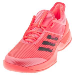 Women`s Adizero Ubersonic 3 Tokyo Tennis Shoes Signal Pink and Black