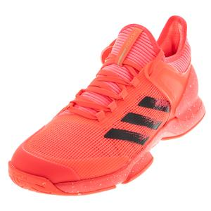 Men`s Adizero Ubersonic 2 Tennis Shoes Signal Pink and Black