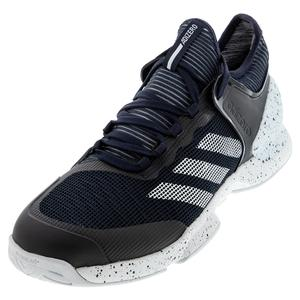Men`s Adizero Ubersonic 2 Tennis Shoes Legend Ink and White