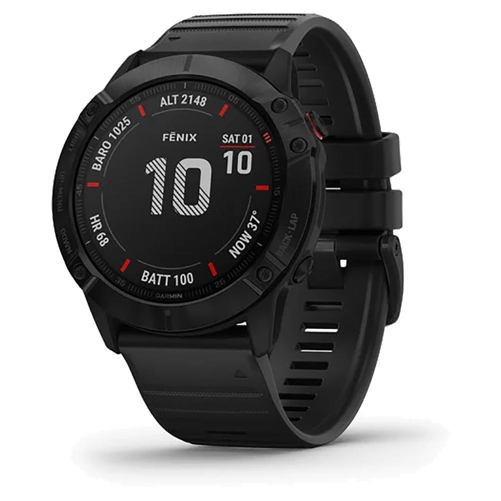 Fenix 6x Pro Watch Black With Black Band