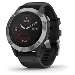 Fenix 6 Watch Silver with Black Band