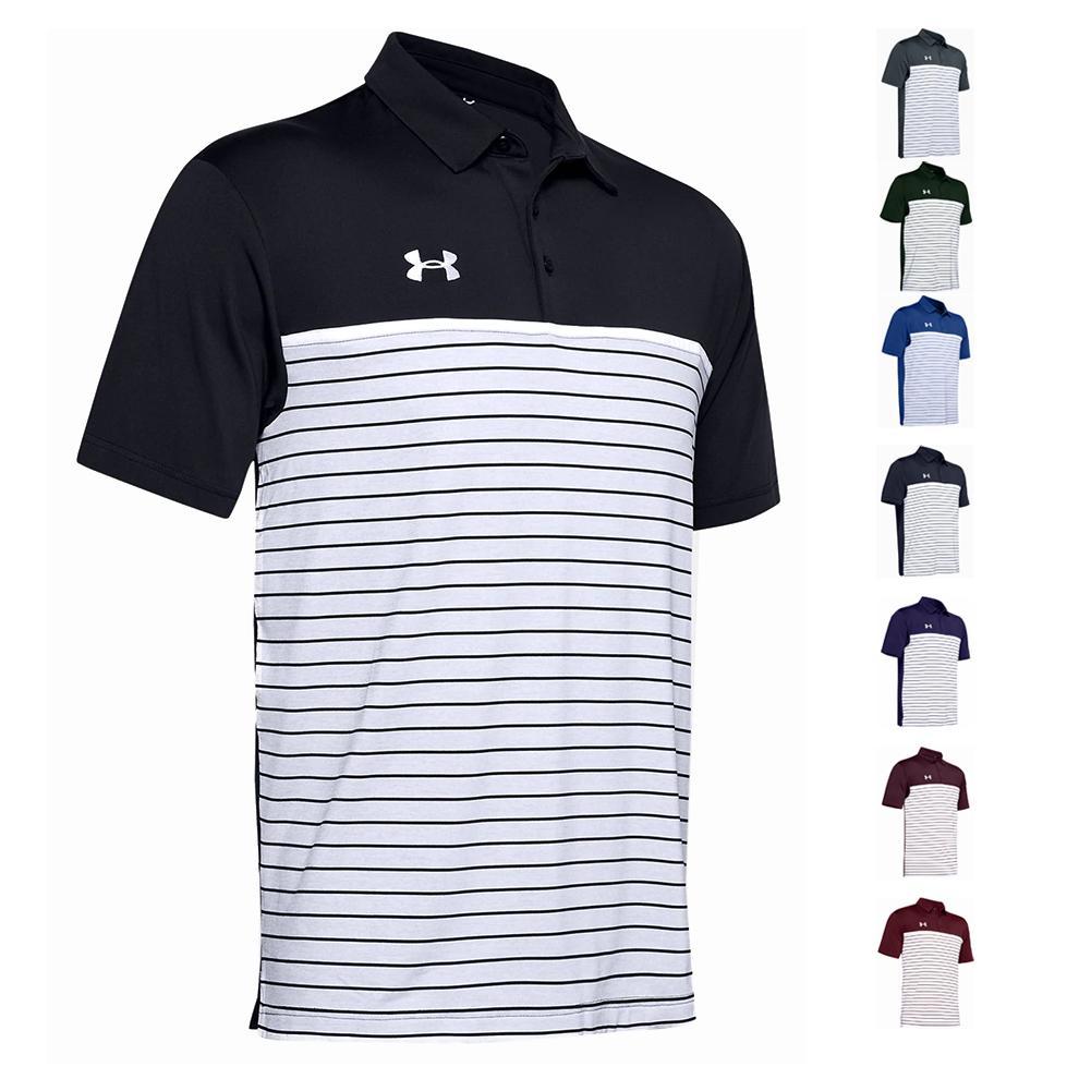 Men's Stripe Mix- Up Polo