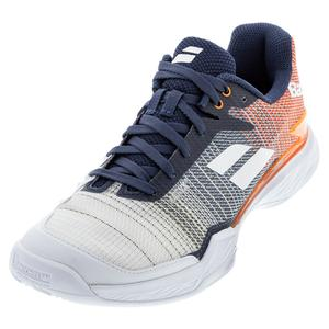 Men`s Jet Mach II All Court Tennis Shoes White and Pureed Pumpkin