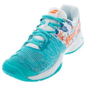 Men`s Propulse Blast All Court Tennis Shoes White and Flower
