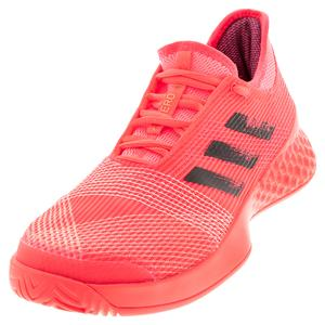 Men`s Adizero Ubersonic 3 Tennis Shoes Signal PInk and Black