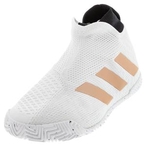 Women`s Stycon Tennis Shoes White and Copper Metallic