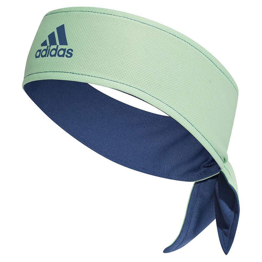 Aeroready Tennis Hair Tie Band Glory Green And Tech Indigo
