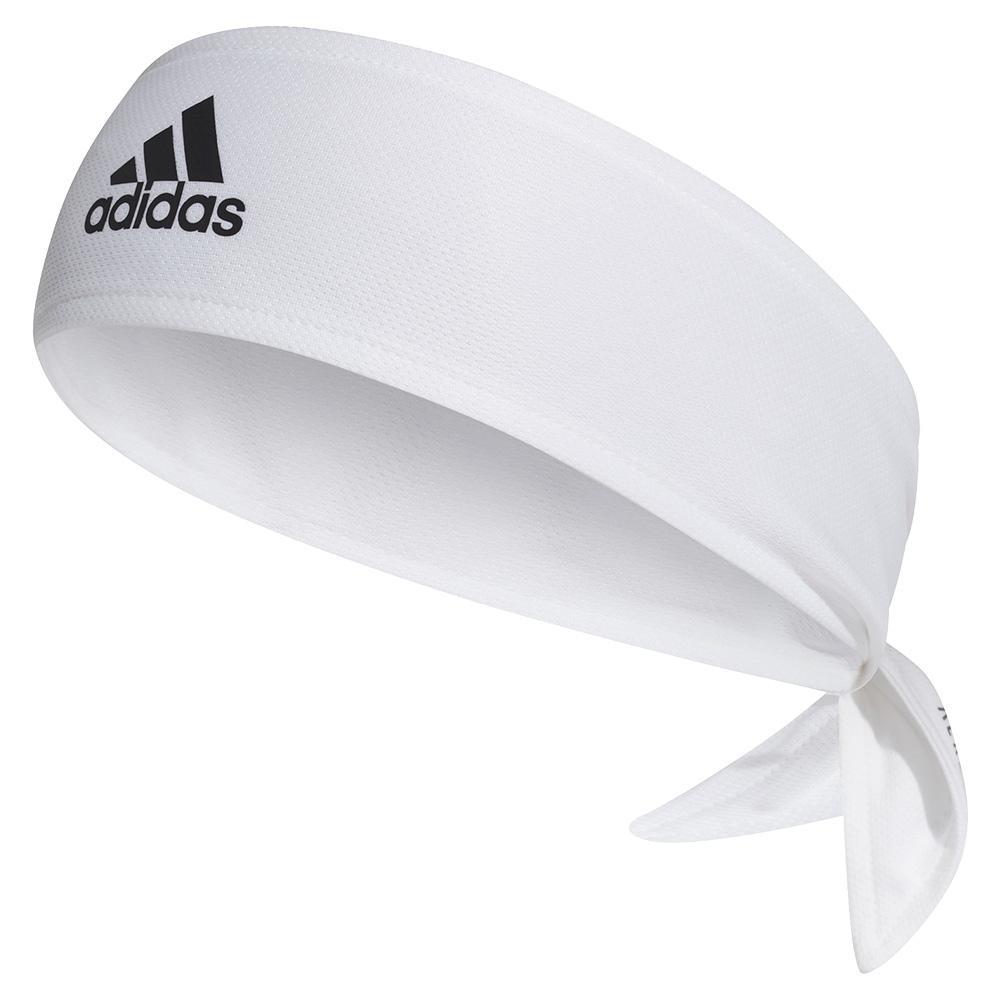 Aeroready Tennis Hair Tie Band White And Scarlet