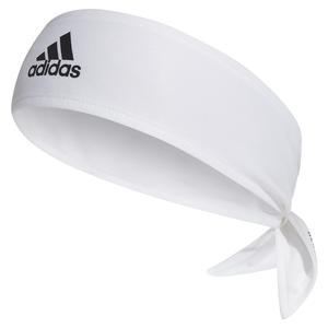 AEROREADY Tennis Hair Tie Band White and Scarlet