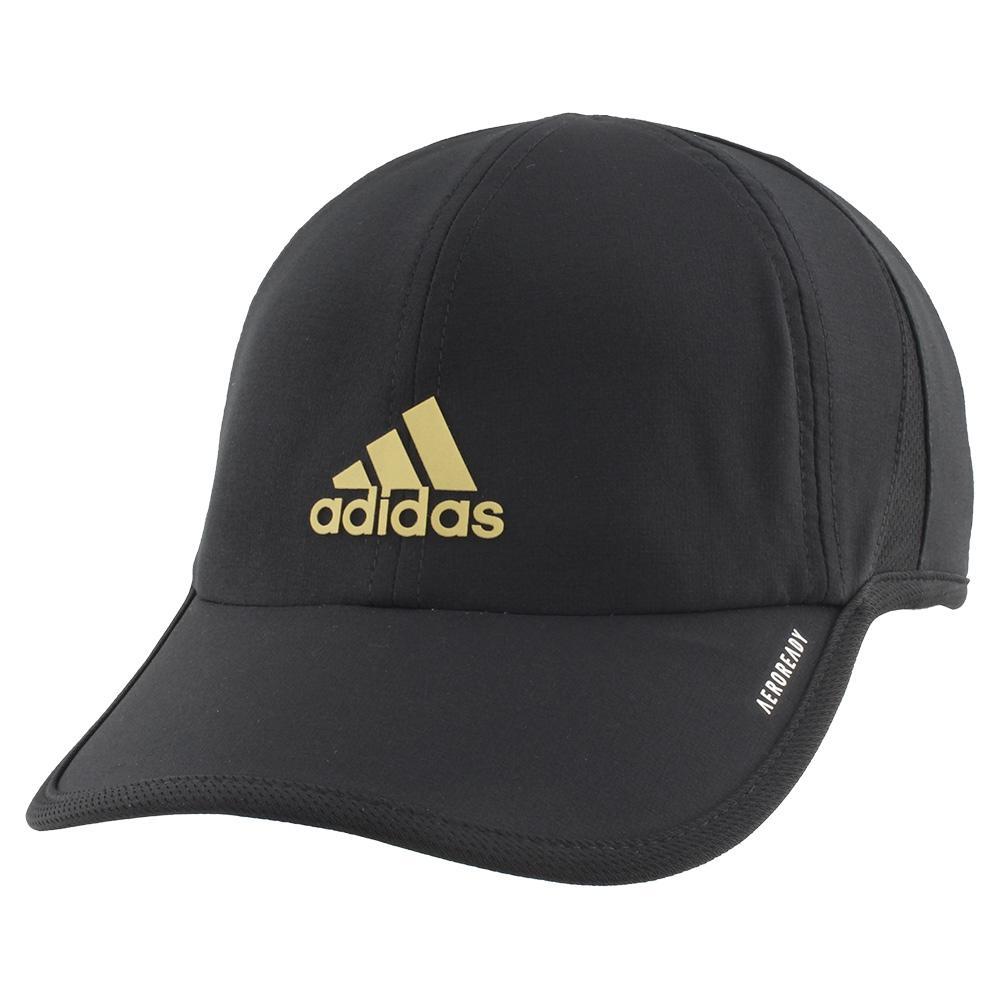 Men's Superlite Tennis Cap Black And Gold Metallic
