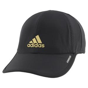 Men`s SuperLite Tennis Cap Black and Gold Metallic