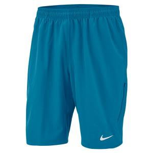 Men`s Court NET Flex 11 Inch Tennis Short Neo Turq and White