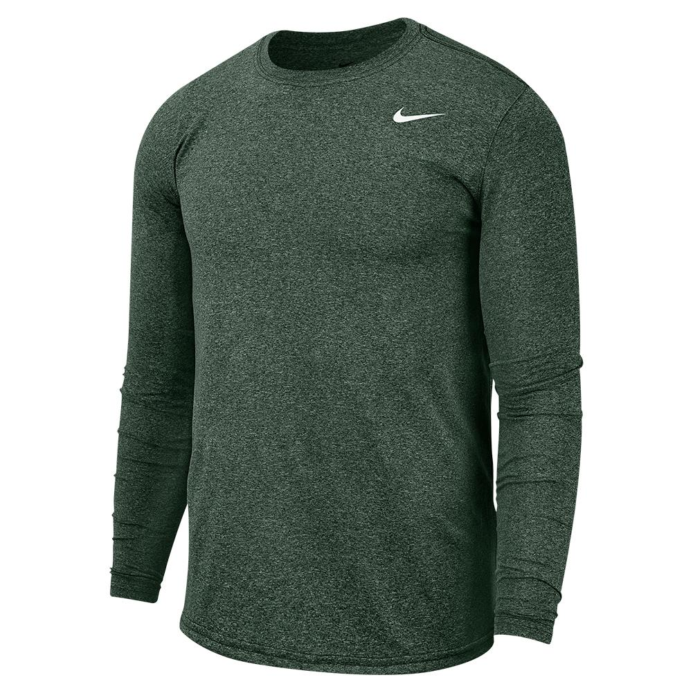 Men's Dri- Fit Legend 2.0 Long Sleeve Training Top Galactic Jade And White