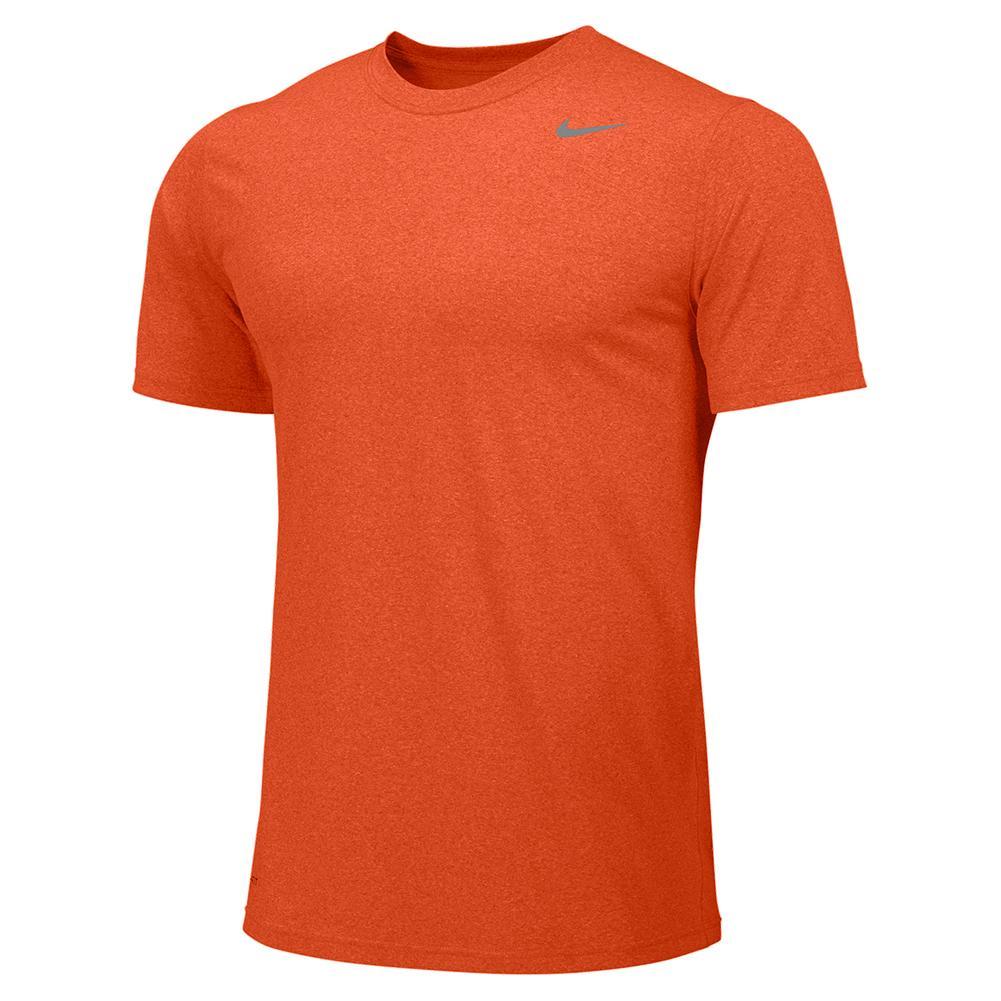 Boys ` Legend Short Sleeve Training Top University Orange And Cool Grey