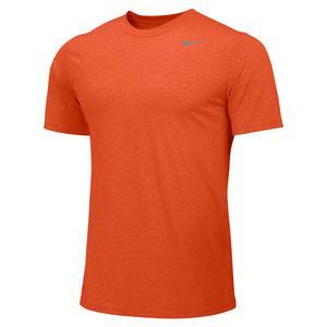Boys` Legend Short Sleeve Training Top University Orange and Cool Grey