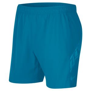 Men`s Court Dry 7 Inch Tennis Short Neo Turq