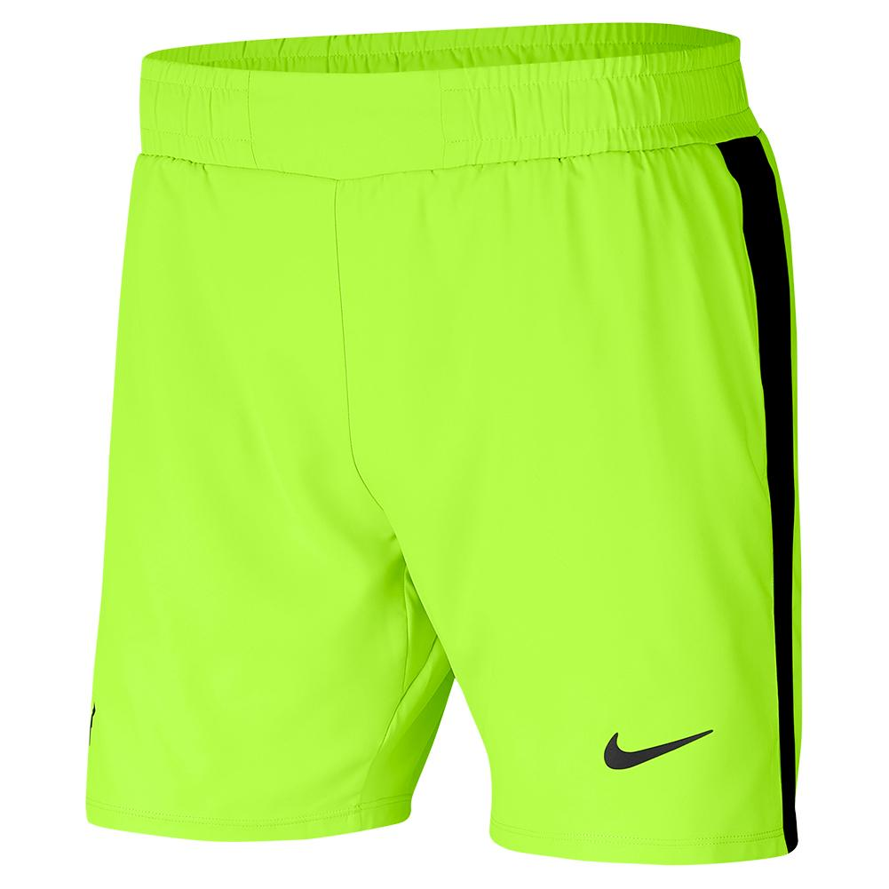 Men's Rafa Court 7 Inch Tennis Short Volt And Black