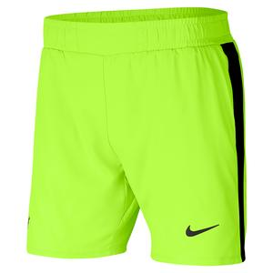 Men`s Rafa Court 7 Inch Tennis Short Volt and Black